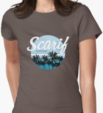 Scarif Big Wave Surfing Alternate Color Women's Fitted T-Shirt