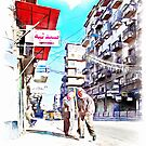 Men at work in the street of Aleppo by Giuseppe Cocco