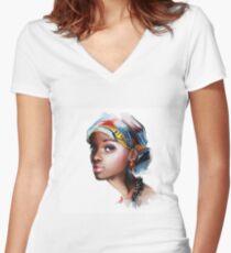 Afrikanerin Shirt mit V-Ausschnitt