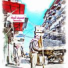 Man at work in the street of Aleppo by Giuseppe Cocco