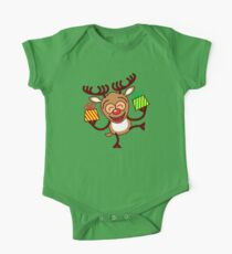 Christmas Reindeer bringing gifts One Piece - Short Sleeve