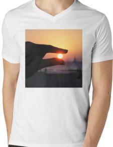 Pinch The Sun - Beach Landscape Mens V-Neck T-Shirt