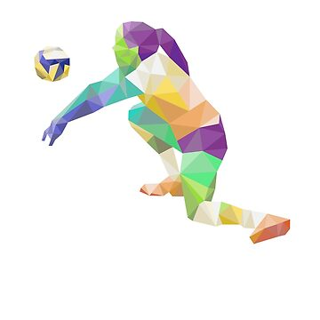 Volleyball Player Digging by RajaArslan321