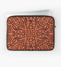 Orange & Black Vector Laptop Sleeve