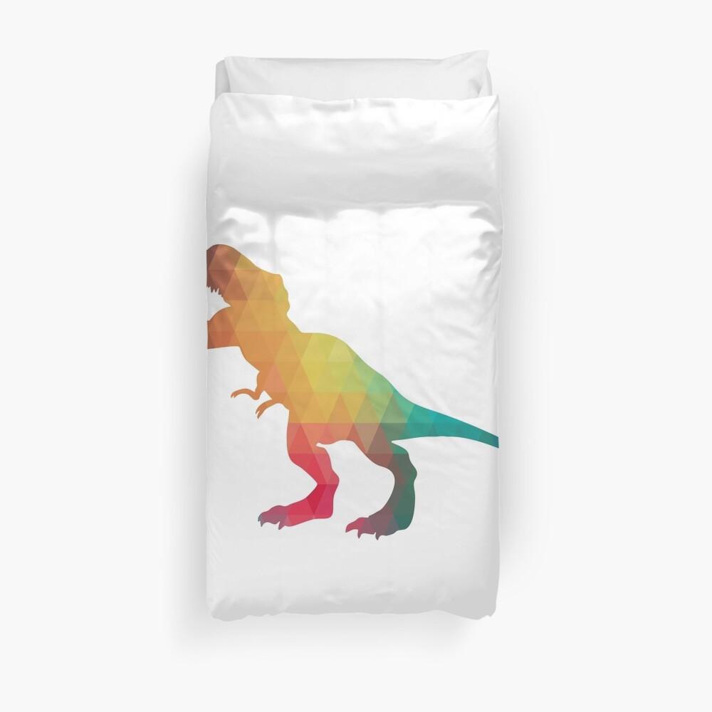 Regenbogenfarbe T-Rex Bettbezug