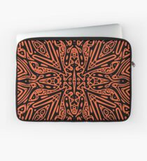 Black & Orange Vector Laptop Sleeve