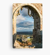 Margam Castle, viewed from Hen Eglwys Chapel,South Wales Canvas Print