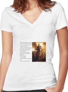 Lord of the Rings - Stand Men of the West Women's Fitted V-Neck T-Shirt