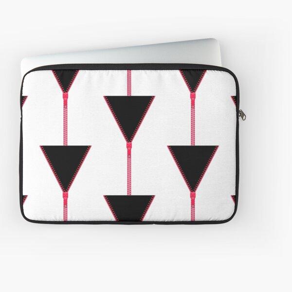 Pink zipper - black inside Laptop Sleeve