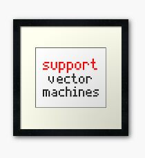 Support vector machines Framed Print
