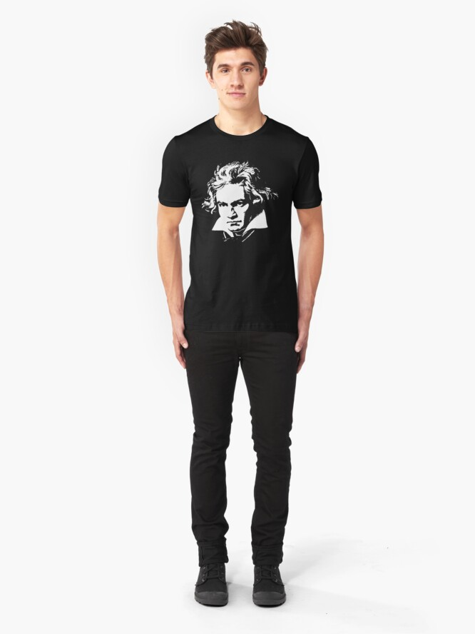 Alternate view of beethoven Slim Fit T-Shirt