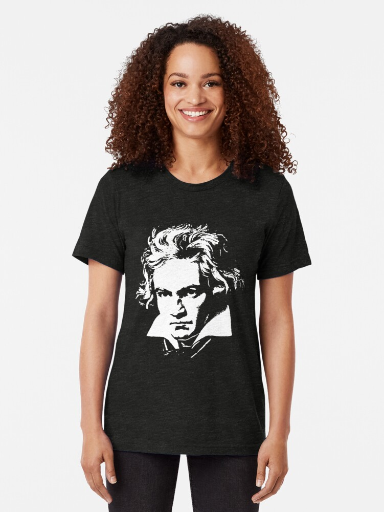 Alternate view of beethoven Tri-blend T-Shirt