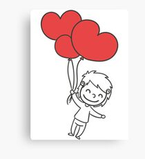 "Valentine´s Day ""Boy with Heart Balloon"" Canvas Print"