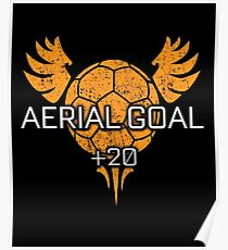 Rocket Leaugue Video Game Aerial Goal +20 Funny Gifts Poster