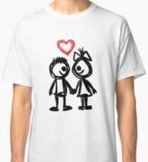 """Valentine´s Day """"Lovely Doodle"""" Classic T-Shirt"""