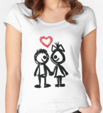 """Valentine´s Day """"Lovely Doodle"""" Women's Fitted Scoop T-Shirt"""