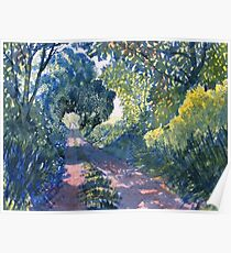 Hockney's Tunnel of Trees Poster