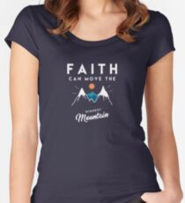 Faith Quote Women's Fitted Scoop T-Shirt