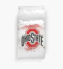Ohio State University Watercolor Logo Duvet Cover