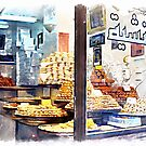 Showcase of Aleppo pastry shop by Giuseppe Cocco