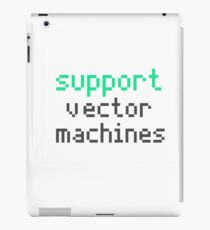 Support vector machines (green) iPad Case/Skin