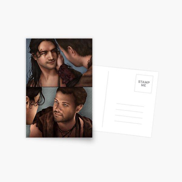 Erste Version des Kusses von Nagron (Spartacus) Postkarte