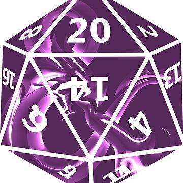 Purple Dragon D20 by harrietdenson