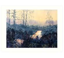 Sunset on Skipwith Common Art Print