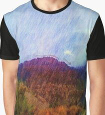 Nature photo Drawing effect Graphic T-Shirt