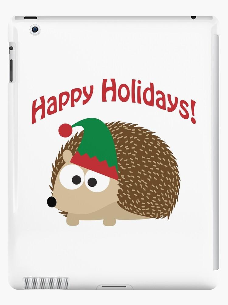 Happy Holidays! Hedgehog elf by Eggtooth