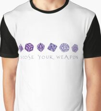 Choose Your Weapon | RPG Graphic T-Shirt