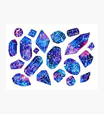 Galaxy crystals Photographic Print
