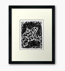 Black Amphibian Framed Print