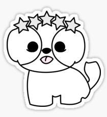 Shih Tzu Puppy with Star Crown Sticker