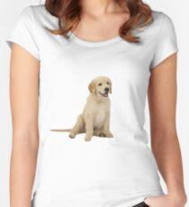 Cute Golden Retriever Women's Fitted Scoop T-Shirt