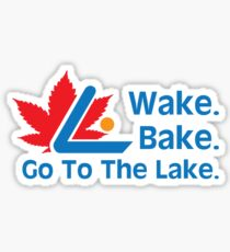Defending Awesome - Wake Bake Go To The Lake Sticker