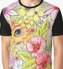 Flowery Point of View Graphic T-Shirt