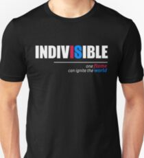 Indivisible T-Shirt: One Flame Can Ignite the World Unisex T-Shirt