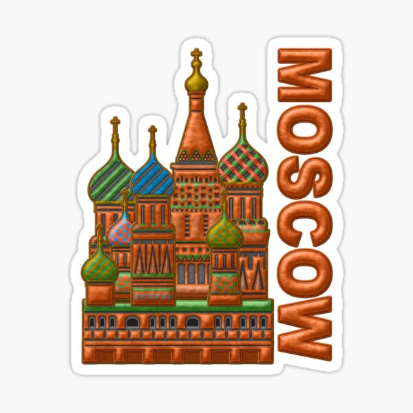 St. Basil's Cathedral, Kremlin, Moscow, Russia, Sticker