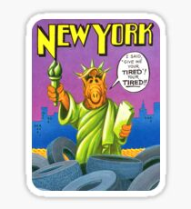 New York Statue of Liberty United States of ALF Travel Decal Sticker