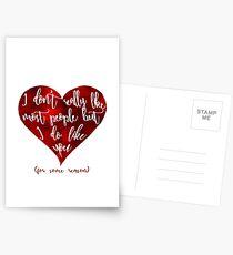 But I do like you. Postcards