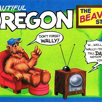 Oregon Beaver Estados Unidos de ALF Travel Decal de hackeycard