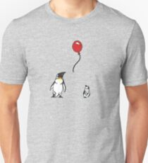 Penguins with Red Balloon Unisex T-Shirt