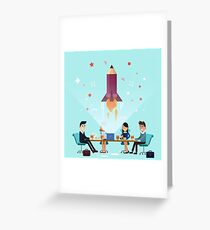 Business Project Startup Concept Design Greeting Card