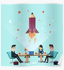 Business Project Startup Concept Design Poster