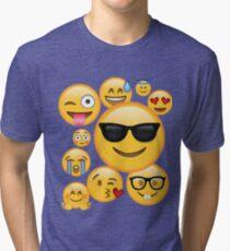 Emoji Pack ComboT-shirt Emoticon Smily Face Tshirt Tri-blend T-Shirt