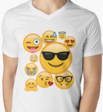 Emoji Pack ComboT-shirt Emoticon Smily Face Tshirt Men's V-Neck T-Shirt