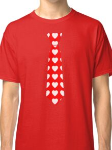 Valentine Tie Red with Hearts Classic T-Shirt