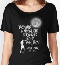 Drowned in Moonlight, Strangled by My Own Bra Women's Relaxed Fit T-Shirt