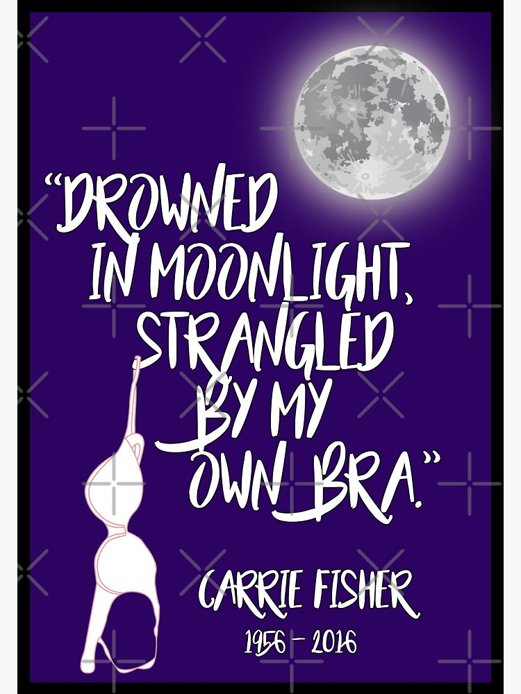 Drowned in Moonlight, Strangled by My Own Bra T-shirt by